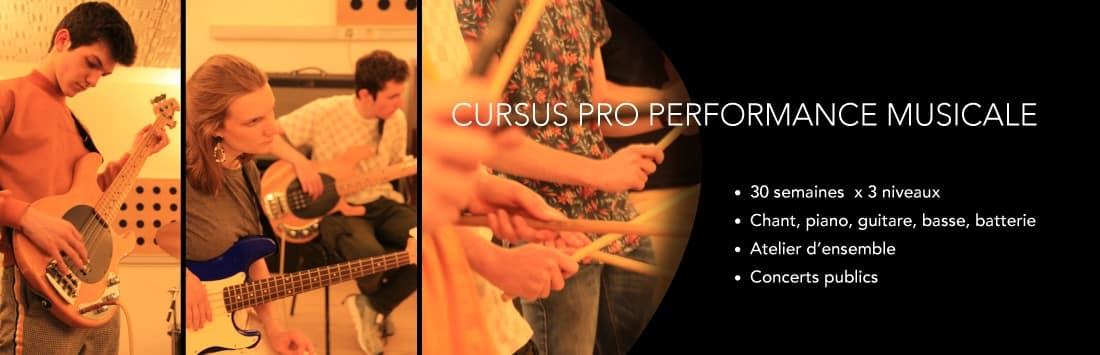 Formation Musique - Cursus Pro - Performance musicale