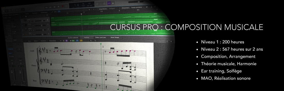 Formation Pro Composition musicale & Production musicale
